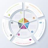 与圈子的抽象infographic设计 免版税库存图片