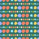 与圈子的无缝的五颜六色的样式 库存图片