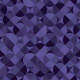 与圈子的无缝的紫罗兰色样式 库存例证