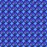 与圈子的无缝的蓝色样式 免版税库存图片