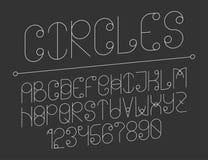 与圈子的现代线字母表 图库摄影