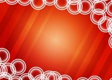 与圈子的红色背景 库存照片