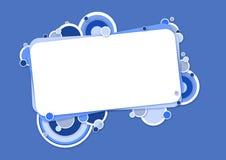 与圈子的蓝色横幅 免版税库存照片