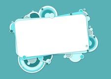 与圈子的蓝色横幅 免版税库存图片