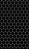 与圈子的黑白样式的无缝的纹理 免版税库存照片