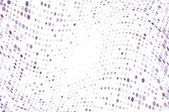 与圈子,小点的波浪光点图形,指向小和大规模 紫罗兰色,紫色颜色 也corel凹道例证向量 免版税图库摄影