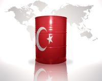 与土耳其旗子的桶 库存例证