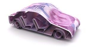 与土耳其里拉的汽车财务 库存例证