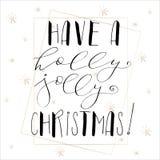 与圣诞快乐的字法 库存照片