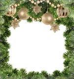 与圣诞树分支的圣诞节背景  库存照片