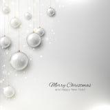 与圣诞树和圣诞节t的典雅的圣诞节背景 免版税库存照片