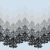 与圣诞树的单色水平的无缝的样式在蓝色 库存照片