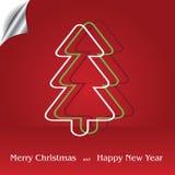与圣诞树的圣诞节背景 免版税库存图片