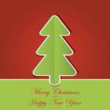与圣诞树的圣诞节背景 免版税库存照片