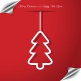 与圣诞树的圣诞节背景 图库摄影