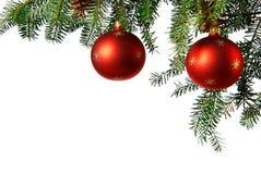 与圣诞树的圣诞节 库存照片