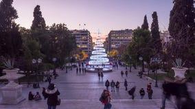 与圣诞树的结构体正方形 股票视频