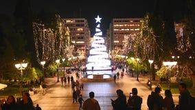 与圣诞树的结构体正方形 影视素材