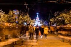 与圣诞树的结构体正方形 库存照片