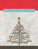 与圣诞树的背景,向量 库存照片