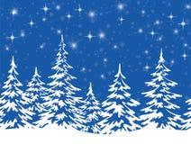 与圣诞树的风景 皇族释放例证