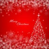 与圣诞树,向量例证的圣诞节背景 库存照片
