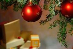 与圣诞树4的圣诞节 库存照片