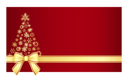 与圣诞树c的豪华圣诞节证明 库存照片
