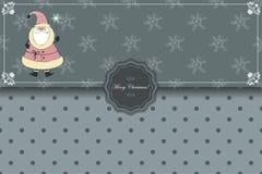 与圣诞老人和圣诞节星的信封 免版税图库摄影