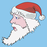 与圣诞老人的五颜六色的照片 免版税库存图片