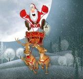 与圣诞老人的例证 免版税库存图片