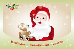 与圣诞老人的圣诞前夕 免版税库存照片