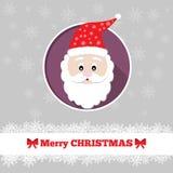与圣诞老人的圣诞卡模板 库存照片
