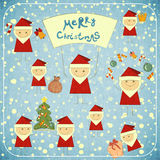与圣诞老人的圣诞卡 免版税图库摄影