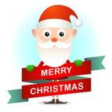 与圣诞老人的圣诞卡 免版税库存图片