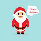 与圣诞老人的圣诞节假日 圣诞老人说 库存图片