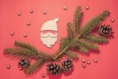 与圣诞老人的圣诞节构成 免版税库存图片