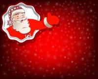 与圣诞老人的圣诞节红色背景 免版税库存图片