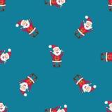 与圣诞老人的无缝的样式 免版税库存照片