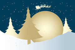 与圣诞老人的逗人喜爱的Xmas卡片 免版税库存图片