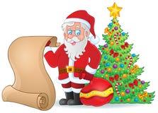 与圣诞老人题材6的图象 库存照片