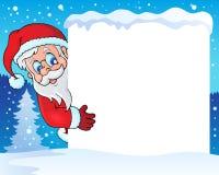 与圣诞老人题材4的框架 免版税库存照片