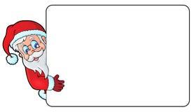 与圣诞老人题材3的框架 免版税库存照片
