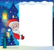 与圣诞老人题材5的框架 免版税库存照片