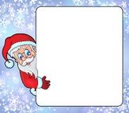 与圣诞老人题材8的框架 库存图片