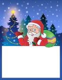 与圣诞老人1的小框架 免版税库存照片