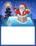 与圣诞老人4的小框架 库存照片
