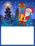 与圣诞老人6的小框架 免版税图库摄影