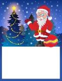 与圣诞老人7的小框架 免版税库存照片