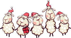 与圣诞节山羊的白色边界 免版税图库摄影